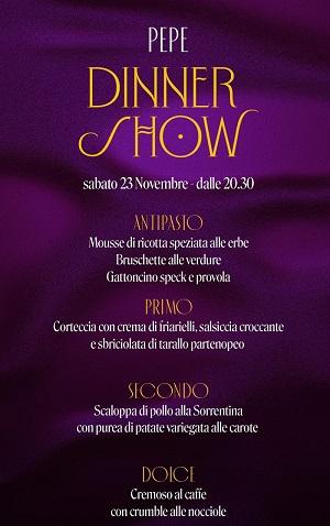 PEPE CLUB Aversa (ex Pepebianco), serata sabato 23 Novembre Cena Spettacolo