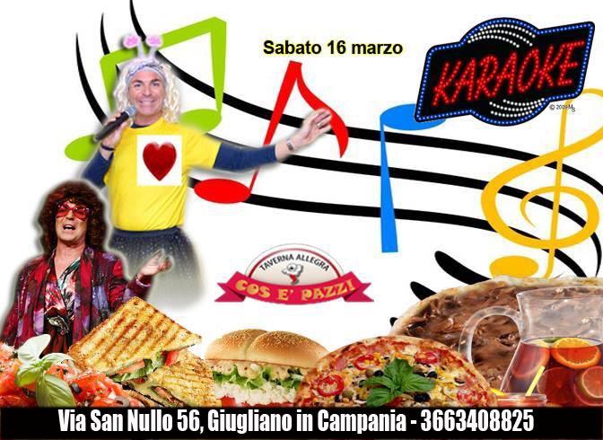 Taverna COS E PAZZ Licola sabato 16 marzo FABIO BRESCIA show