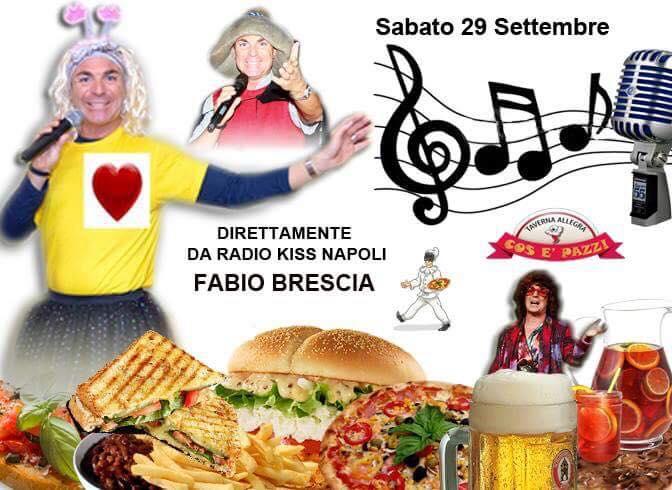 Taverna COS E PAZZ Licola sabato 29 settembre cabaret di FABIO BRESCIA