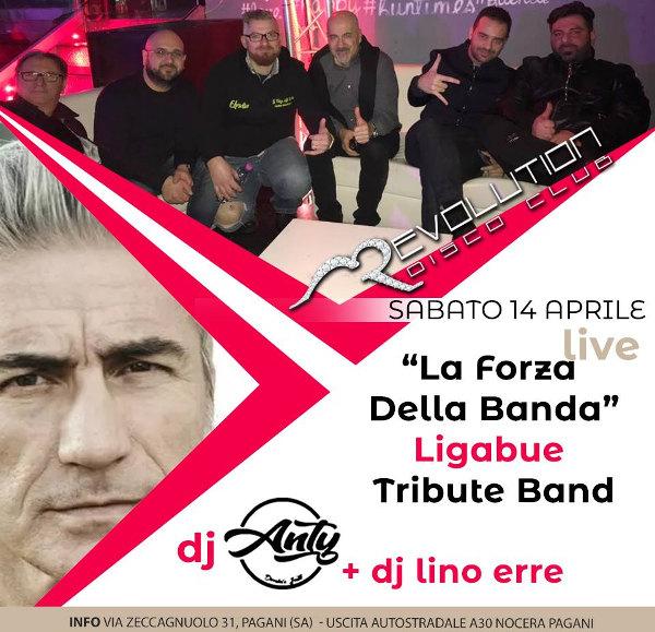 REVOLUTION Discopub Pagani, sabato 14 aprile Live Music e Disco