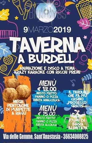 BLUE EYES Discopub Sant'Anastasia, Sabato 9 Marzo karaoke, Taverna show e disco