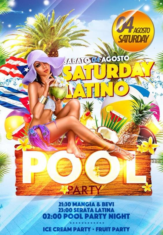 BLUE EYES Discopub Sant'Anastasia, sabato 4 agosto party latino a bordo piscina
