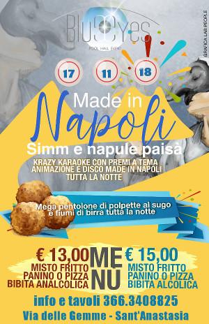 BLUE EYES Discopub Sant'Anastasia, sabato 17 novembre Party Made in Napoli e Disco