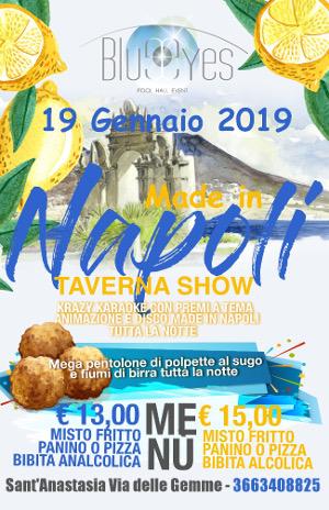BLUE EYES Discopub Sant'Anastasia, sabato 19 gennaio Party MADE IN NAPOLI, Karaoke e Disco