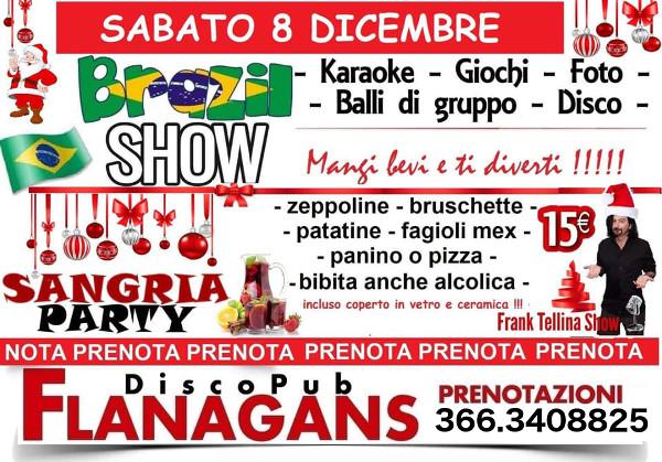 FLANAGANS Discopub Aversa, sabato 8 dicembre Live Show e Sangria Party