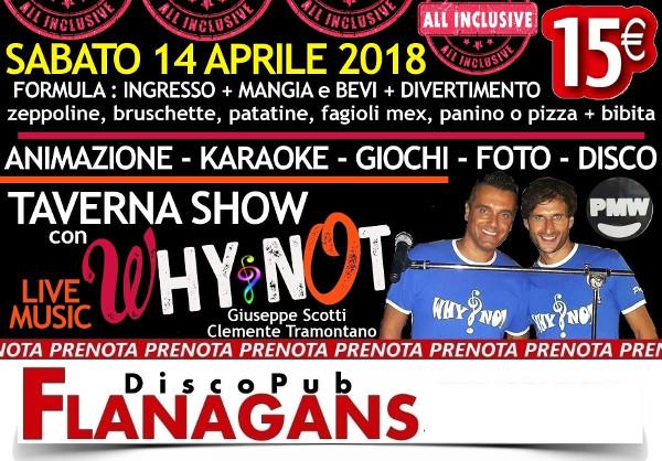 FLANAGANS Discopub Aversa, sabato 14 aprile Live Music Show