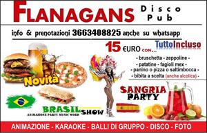FLANAGANS Discopub Aversa Sabato 20 Aprile SANGRIA PARTY, KARAOKE e Disco