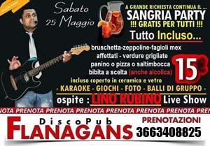 FLANAGANS Discopub Aversa Sabato 25 Maggio Sangria Party e Disco