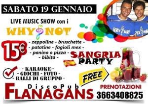 FLANAGANS Discopub Aversa, sabato 19 gennaio Live Music e Sangria