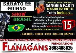 FLANAGANS Discopub Aversa Sabato 22 Giugno Sangria Party