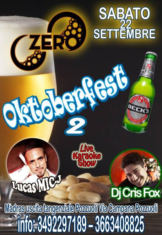 ZERO Madras Discopub Pozzuoli, sabato 22 settembre Festa della Birra e Disco