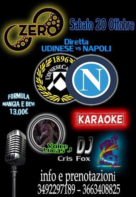 ZERO Madras Discopub Pozzuoli, sabato 20 ottobre Karaoke, diretta Napoli e Disco