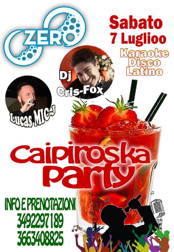 ZERO Madras Discopub Pozzuoli, sabato 7 luglio Caipiroska Party e Karaoke