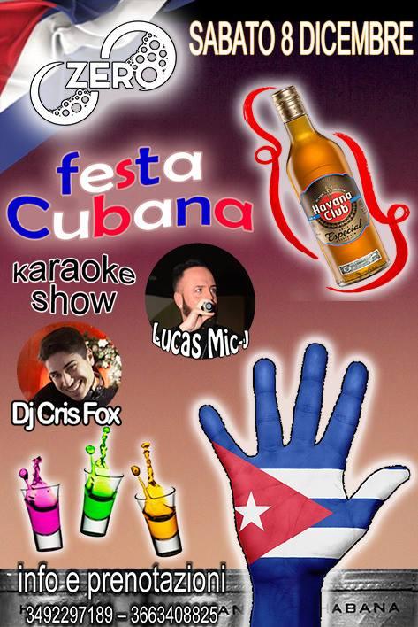 ZERO Madras Discopub Pozzuoli, sabato 8 dicembre party cubano e karaoke