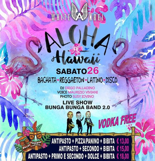 WHITE ANGEL Discopub Nola, sabato 26 maggio Karaoke, Party Hawaii e Disco