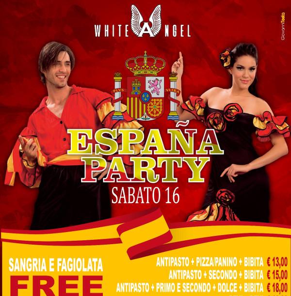 WHITE ANGEL Discopub Nola, sabato 16 giugno Festa Spagnola e Disco