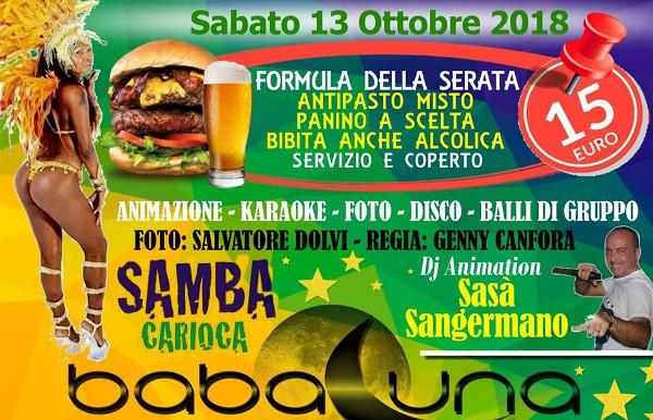 BABALUNA Discopub Napoli, sabato 13 ottobre Party Brasiliano