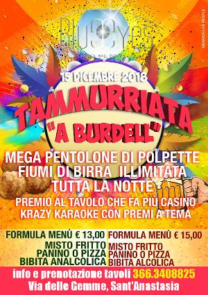 BLUE EYES Discopub Sant'Anastasia, sabato 15 dicembre Tamburriata Show, Karaoke e Disco