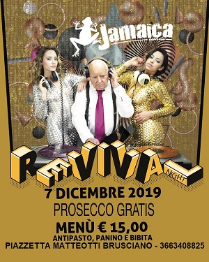 JAMAICA happy pub Brusciano Sabato 7 Dicembre REVIVAL 70/80/90