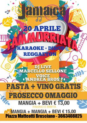 JAMAICA happy pub Brusciano Sabato 20 Aprile Karaoke e Disco