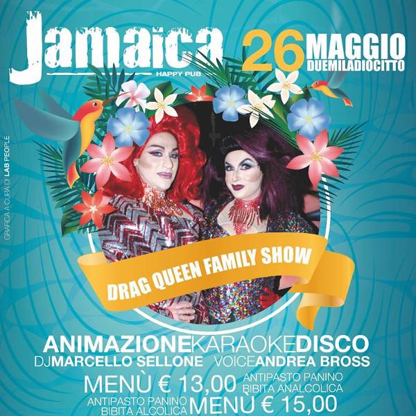 JAMAICA happy pub Brusciano, sabato 26 maggio Drag Queen show e karaoke