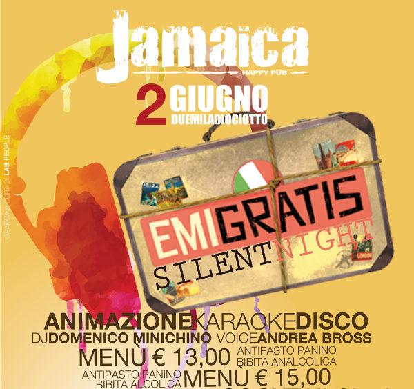 JAMAICA happy pub Brusciano, sabato 2 giugno party a tema e disco