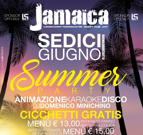 JAMAICA happy pub Brusciano, sabato 16 giugno Party a tema e Disco