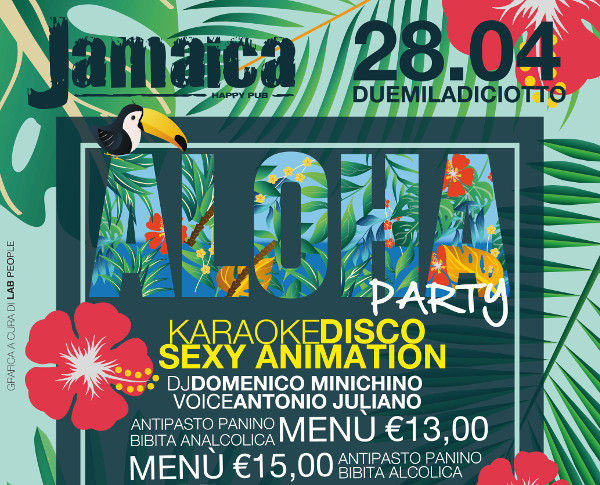 JAMAICA happy pub Brusciano, sabato 28 aprile Karaoke e Party a Tema