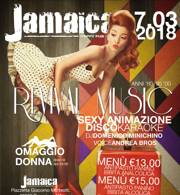 JAMAICA happy pub Brusciano, sabato 7 aprile Karaoke e Disco