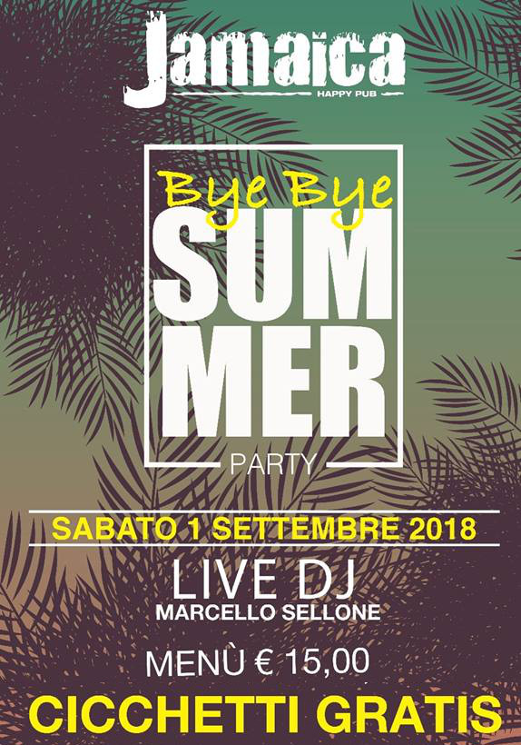 JAMAICA happy pub Brusciano, sabato 1 settembre Cicchetto Party e Karaoke