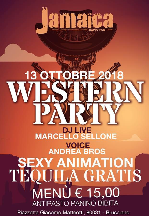 JAMAICA happy pub Brusciano, Sabato 13 ottobre party a tema e disco