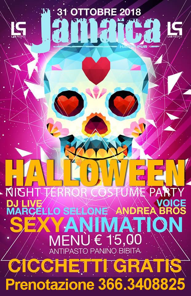 Party Halloween al JAMAICA DISCOPUB, mercoledì 31 ottobre 2018