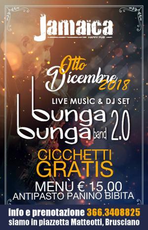 JAMAICA happy pub Brusciano, sabato 8 dicembre Live music show e disco