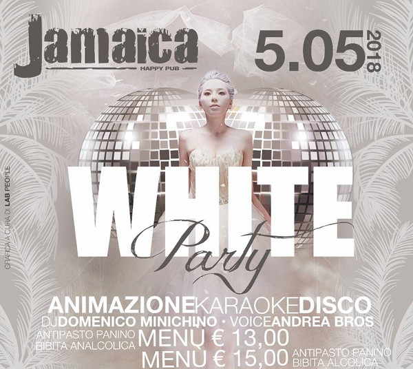 JAMAICA happy pub Brusciano, sabato 5 maggio Party a tema e Karaoke