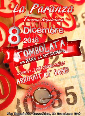 Taverna La Paranza Ercolano, sabato 8 dicembre Tombolata scostumata