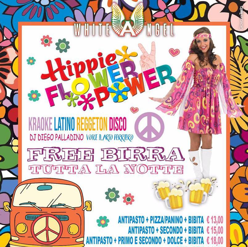 WHITE ANGEL Discopub Nola, sabato 14 Luglio Flower Party e Birra Gratis