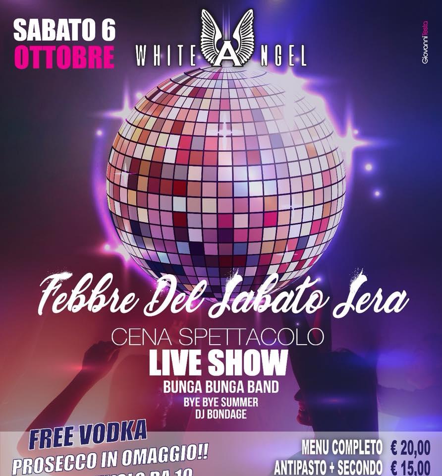 WHITE ANGEL Discopub Nola, sabato 6 ottobre Cena spettacolo e Disco