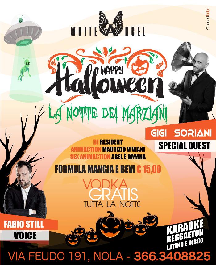Halloween Party al WHITE ANGEL di Nola, mercoledì 31 ottobre 2018