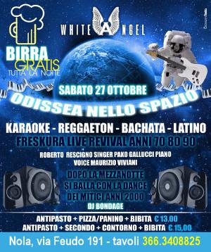 WHITE ANGEL Discopub Nola, sabato 27 ottobre Party a tema, Live Music e Disco