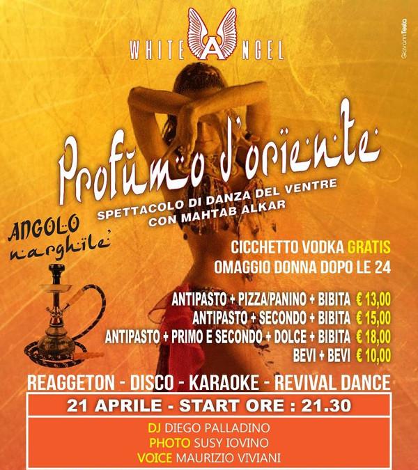 WHITE ANGEL Discopub Nola, sabato 21 aprile Party a tema e disco