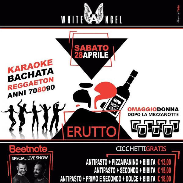WHITE ANGEL Discopub Nola, sabato 28 aprile Karaoke e Disco