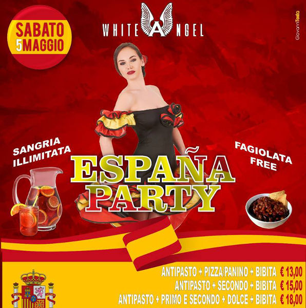 WHITE ANGEL Discopub Nola, sabato 5 maggio Karaoke e Festa Spagnola