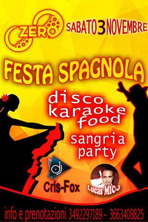 ZERO Madras Discopub Pozzuoli, sabato 3 novembre Fiesta Spagnola e Disco