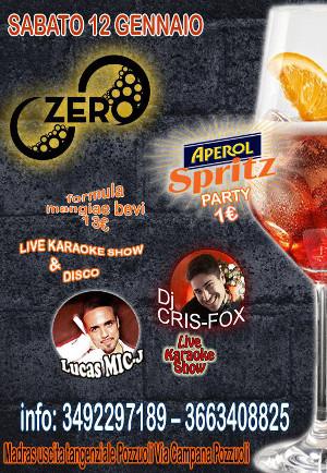 ZERO Madras Discopub Pozzuoli, sabato 12 gennaio Spritz party, karaoke e disco