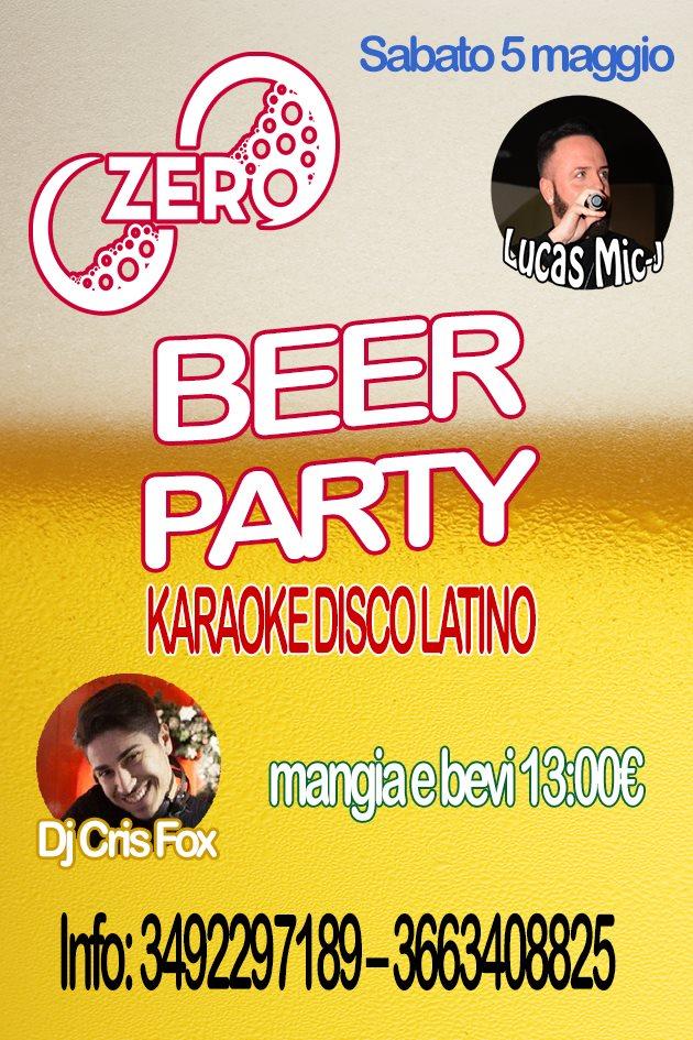 ZERO Madras Discopub Pozzuoli, sabato 5 maggio Birra Party e Disco
