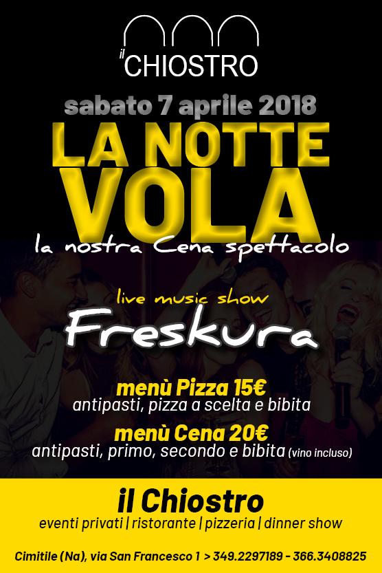 Il Chiostro Cimitile, sabato 7 Aprile Cena Spettacolo con i FRESKURA