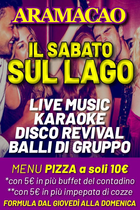 ARAMACAO Discopub Pozzuoli, pizzeria show sul Lago
