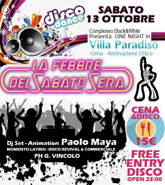 BLACK AND WHITE Discopub Monteruscello Pozzuoli, sabato 13 ottobre Party a tema e Disco