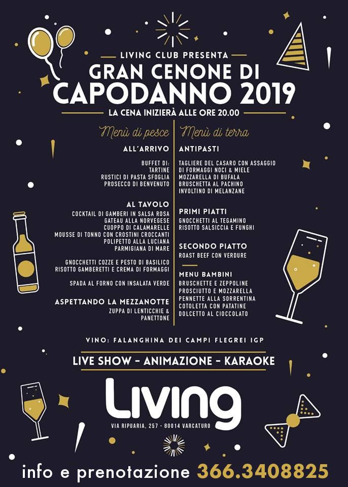 Capodanno 2019 al LIVING di Varcaturo - il Cenone