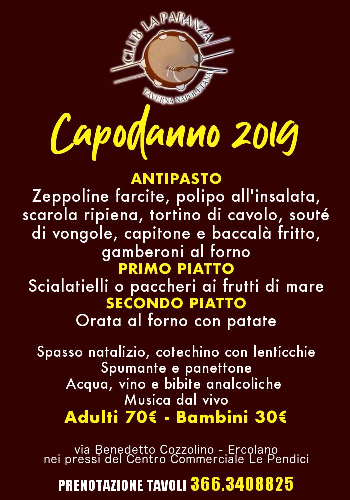 Capodanno 2019 TAVERNA LA PARANZA di Ercolano - Cenone